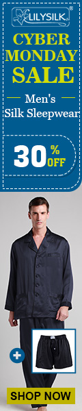 30% OFF on Men's Silk Sleepwear at Lilysilk. Extra 1 Free Boxer with every order. Limited Time. Grab it.