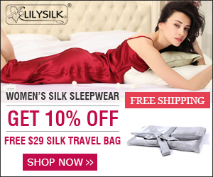 Get 10% Off and one Free Silk Travel Bag($29) buying Womens' Silk Sleepwear. Free US Ship! Shop now.