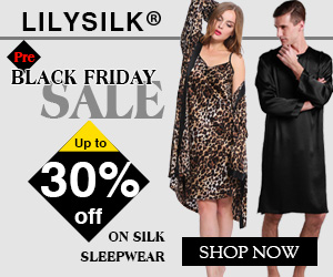 Up to 30% off sale on pure silk sleepwear for both men and women! They are the best gifts to your beloved one, your dear parents or your close friends. Seize the chance to buy at the lowest price in 2015!